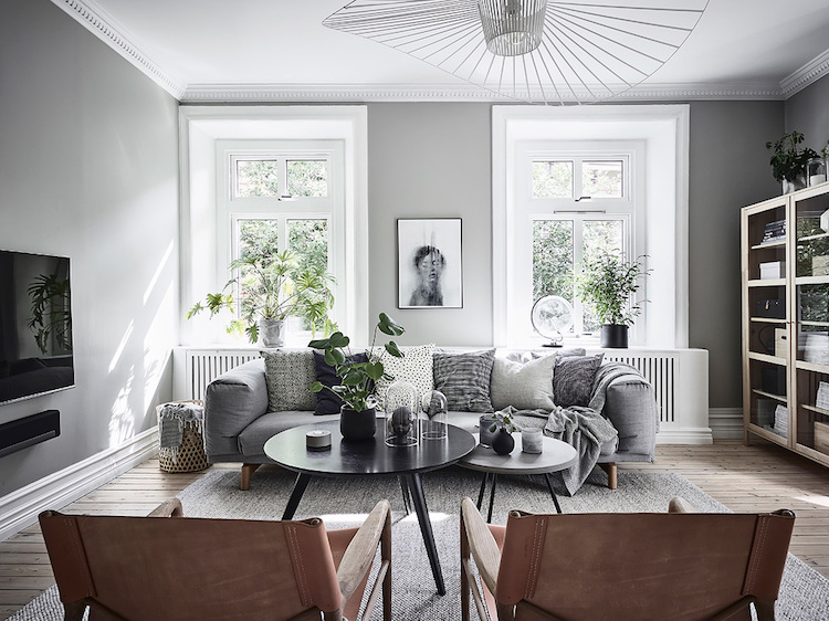 Lovely greens and blues in a Swedish space