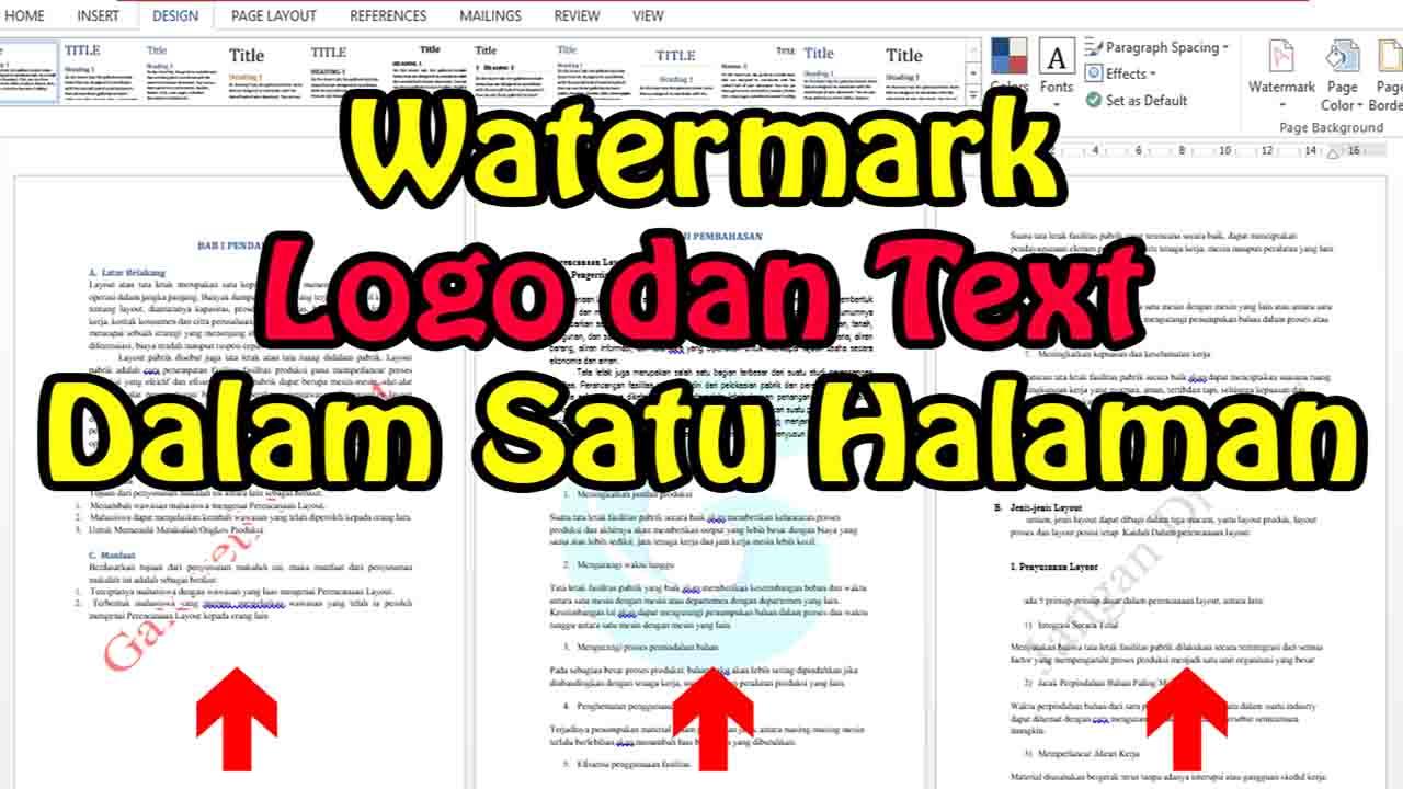 Cara Membuat Watermark Gambar & Text di Word
