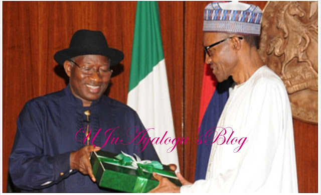 Jonathan prays for Buhari at 75