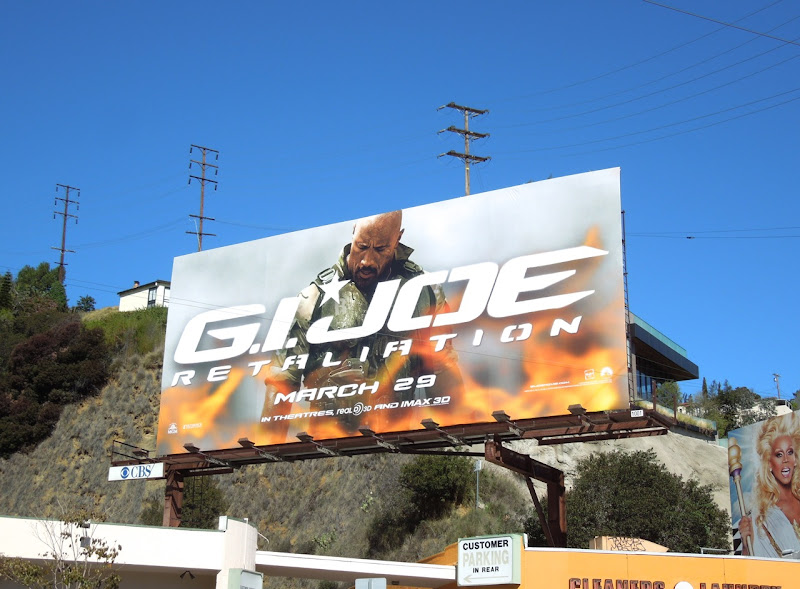 GI Joe Retaliation Dwayne Johnson Roadblock billboard