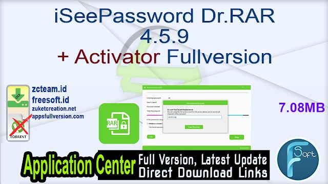iSeePassword Dr.RAR 4.5.9 + Activator Fullversion