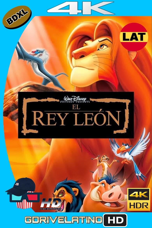El Rey León (1994) BDXL 4K UHD HDR Latino-Ingles ISO