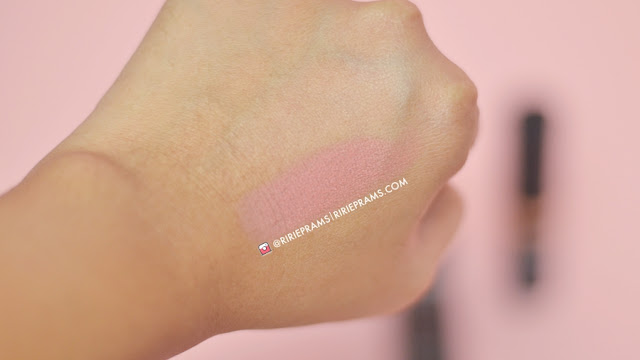 review Make Over Multi Fix Matte Blusher - 05 Heatshot | beauty blogger indonesia | ririeprams