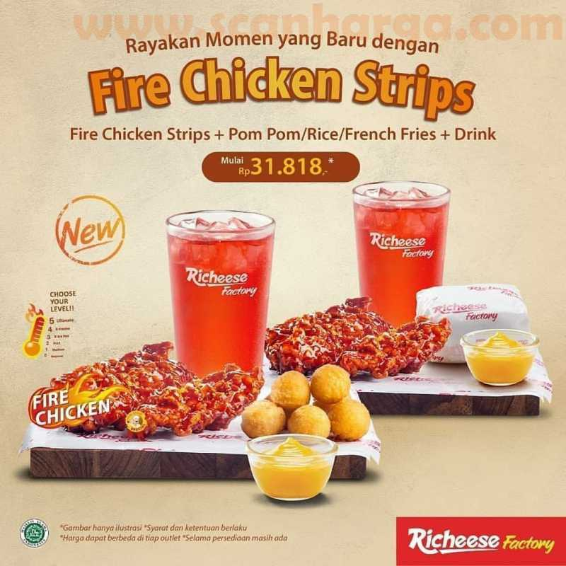Promo Richeese Factory Harga Spesial Fire Chicken Strips Mulai Rp 31.818