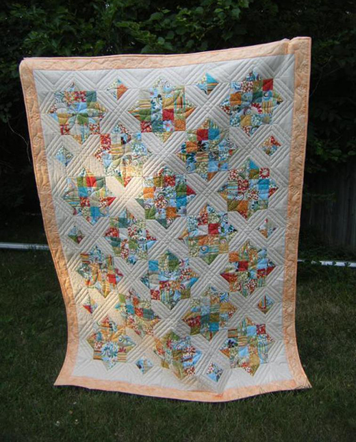 4 Patch & X's and O's Quilt Free Tutorial designed by Jenny of Missouri Quilt Co