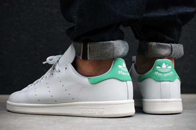 Adidas Tennis Shoes White Green Soles