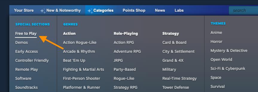 kategori game gratis
