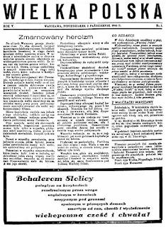 Znalezione obrazy dla zapytania wielka Polska pismo NSZ