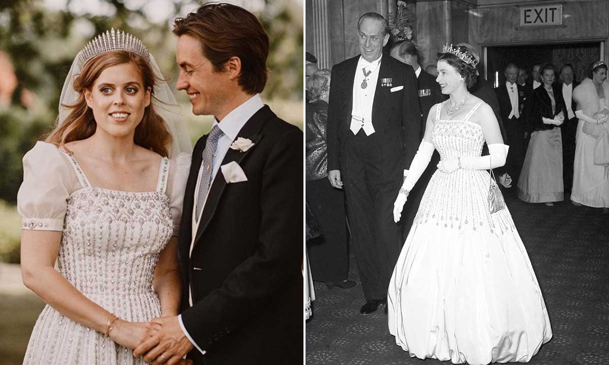 Princess Beatrice's wedding dress