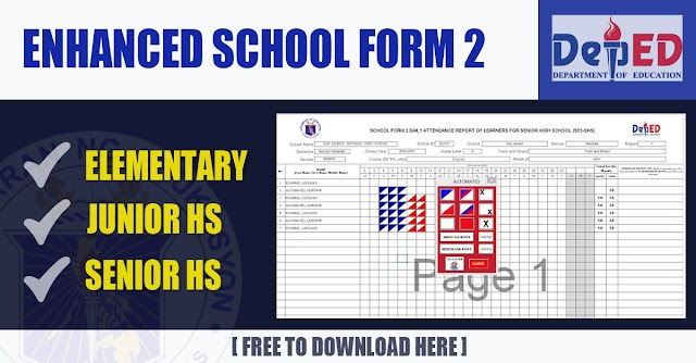 Enhanced School Form 2 for Elementary, Junior High School and Senior High School