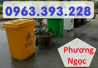 Thùng rác 60L nắp kín, thùng rác nhựa HDPE, thùng rác công cộng F22a7cf92923cb7d9232