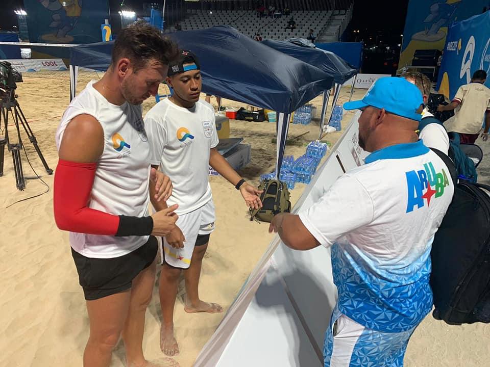 Aksel e Sander nos Jogos Mundiais de Praia, em Doha