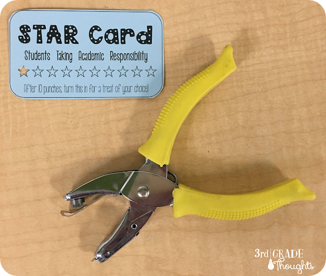 3rd grade thoughts for the past couple of years we have had star cards to fill this need and they have really done the trick i picked up star hole punches on amazon i fandeluxe Image collections