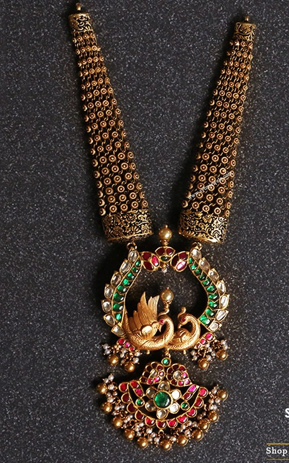 Peacock Kundan Sets by PMJ Jewels