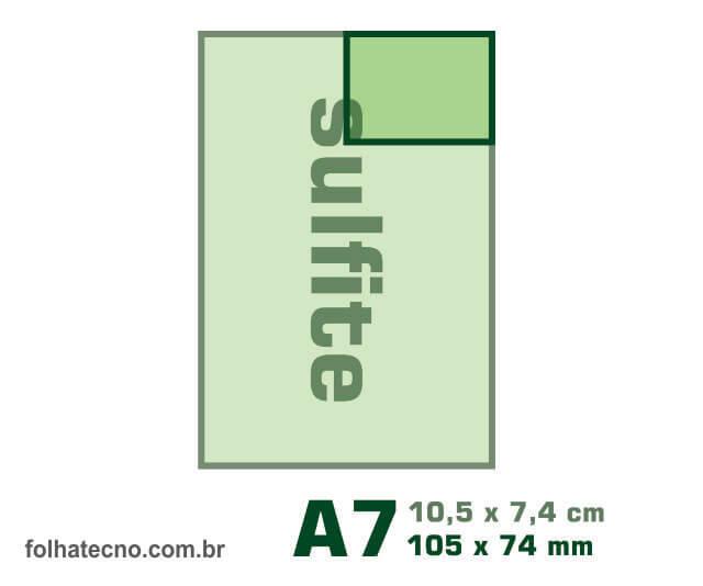 medidas do papel A7