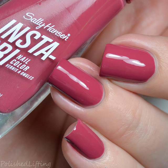 dusty pink nail polish
