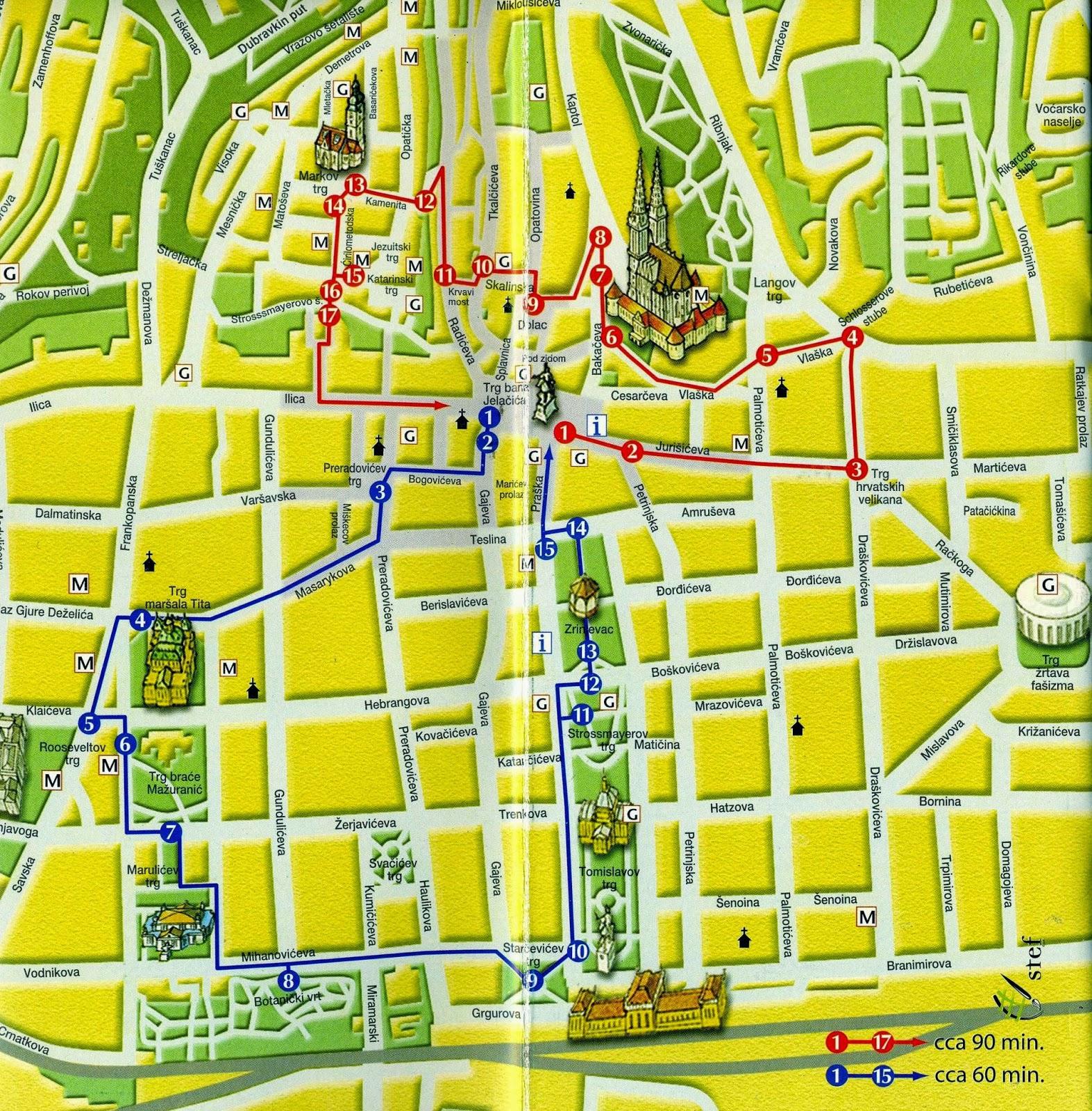 Cartina Zagabria.Itinerario Zagabria La Capitale Croata E I Suoi Musei