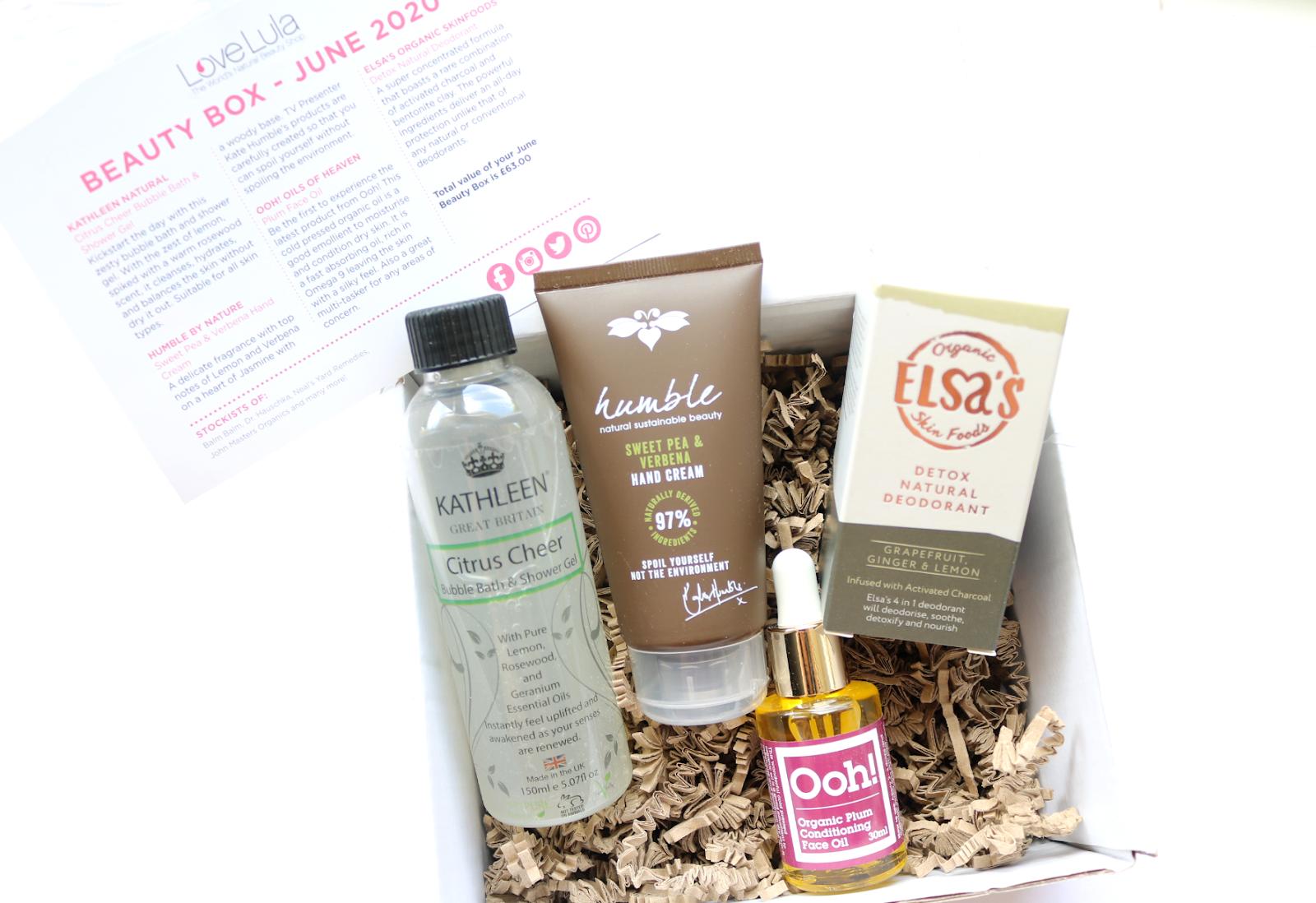 Green Beauty: LoveLula Beauty Box - June 2020 review