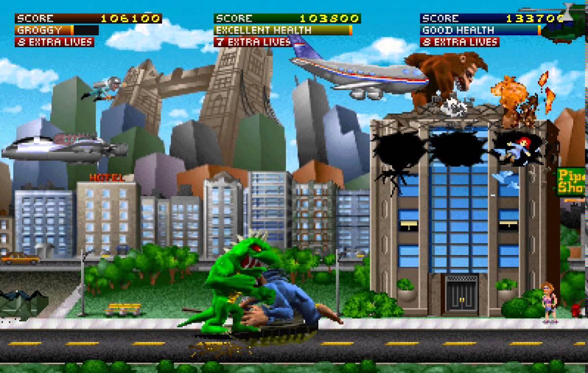rampage arcade ending