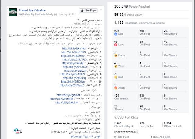 حملة ترويجية - إعلانات فيس بوك | شاي أحمد