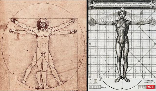 Geometri dalam Arsitektur dan 'The Vitruvian Man'