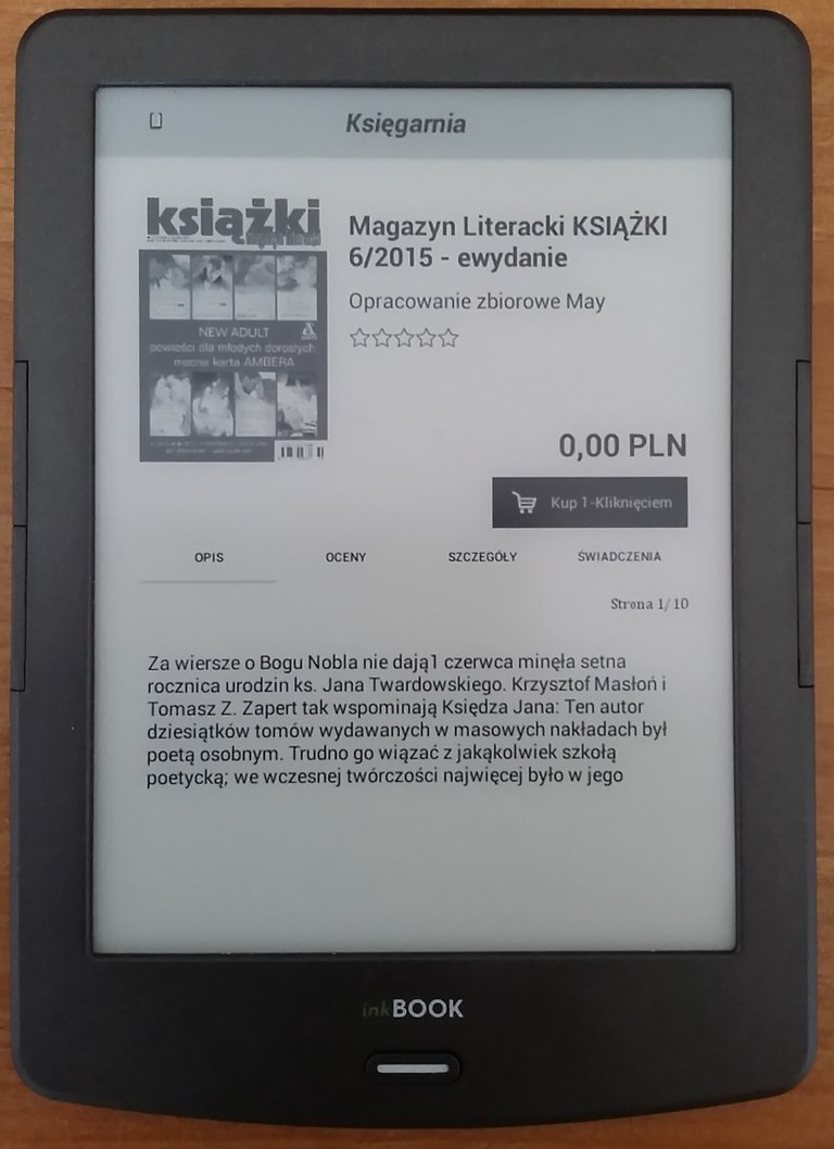 Zakupy jednym kliknięciem w księgarni inkBOOKs