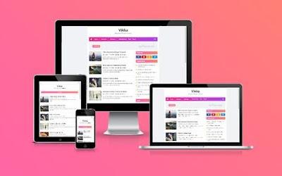 Vikka Premium Blogger Template - SEO Optimized Theme