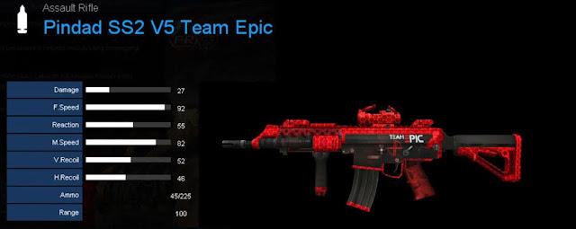 Detail Statistik Pindad SS2 V5 Team Epic