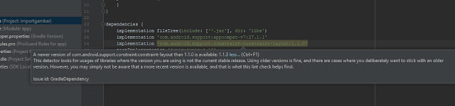 Unable to resolve dependency for ':app@debug/compileClasspath': Could not resolve com.android.support.constraint:constraint-layout:1.1.0.