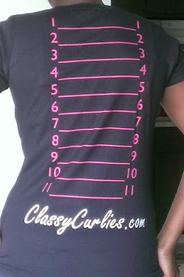 natural hair length check shirt