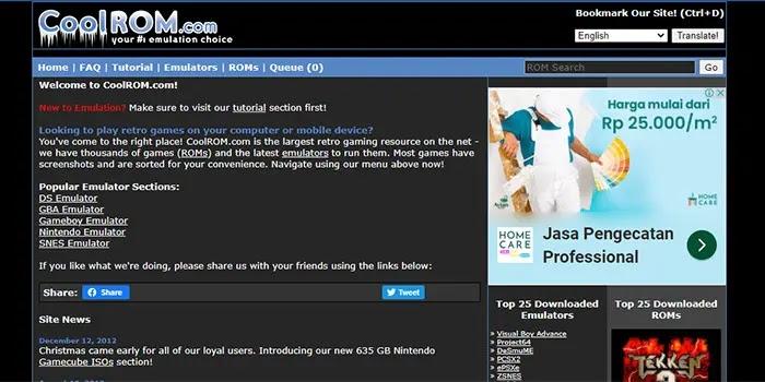 Coolrom - situs download game emulator pc single link
