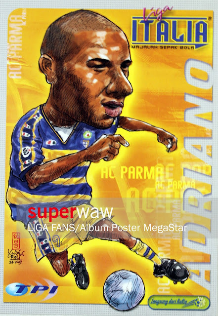 Karikatur Adriano (AC Parma 2002)