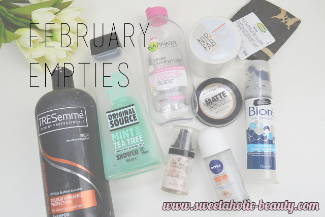 February Empties - Sweetaholic Beauty
