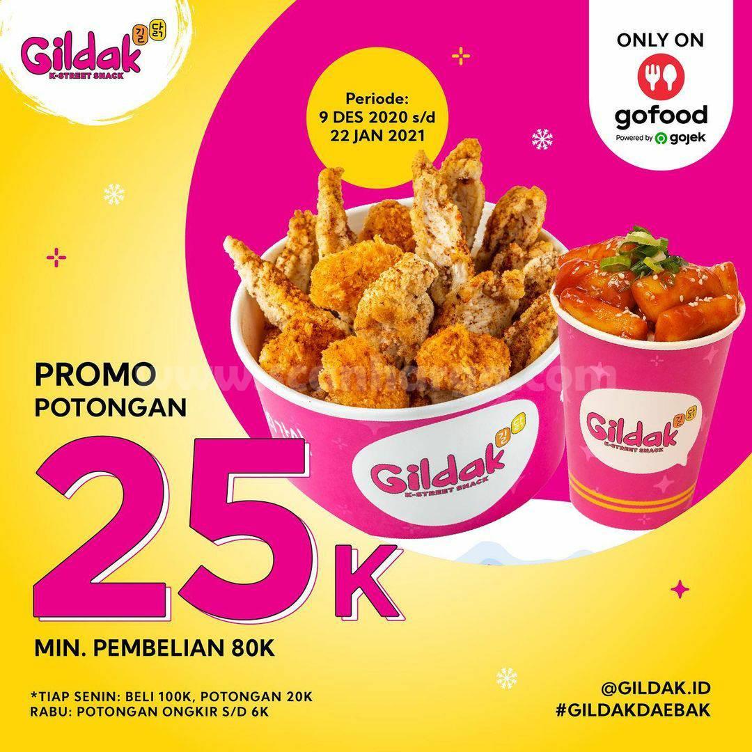 Gildak Promo Diskon 25% Khusus Pesan Via Gofood