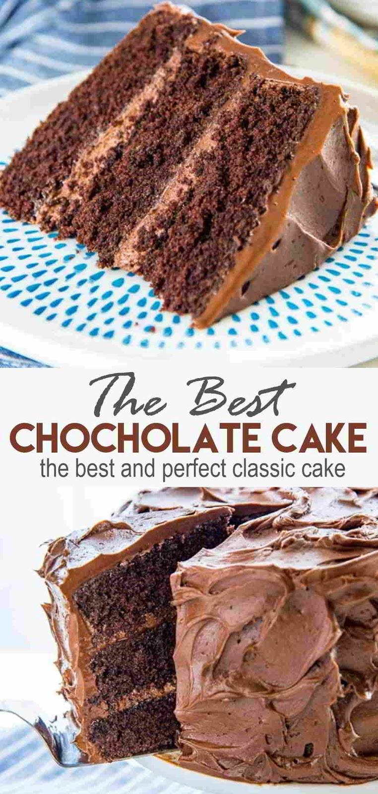 Classic Chocolate Cake #chocolates #cakes
