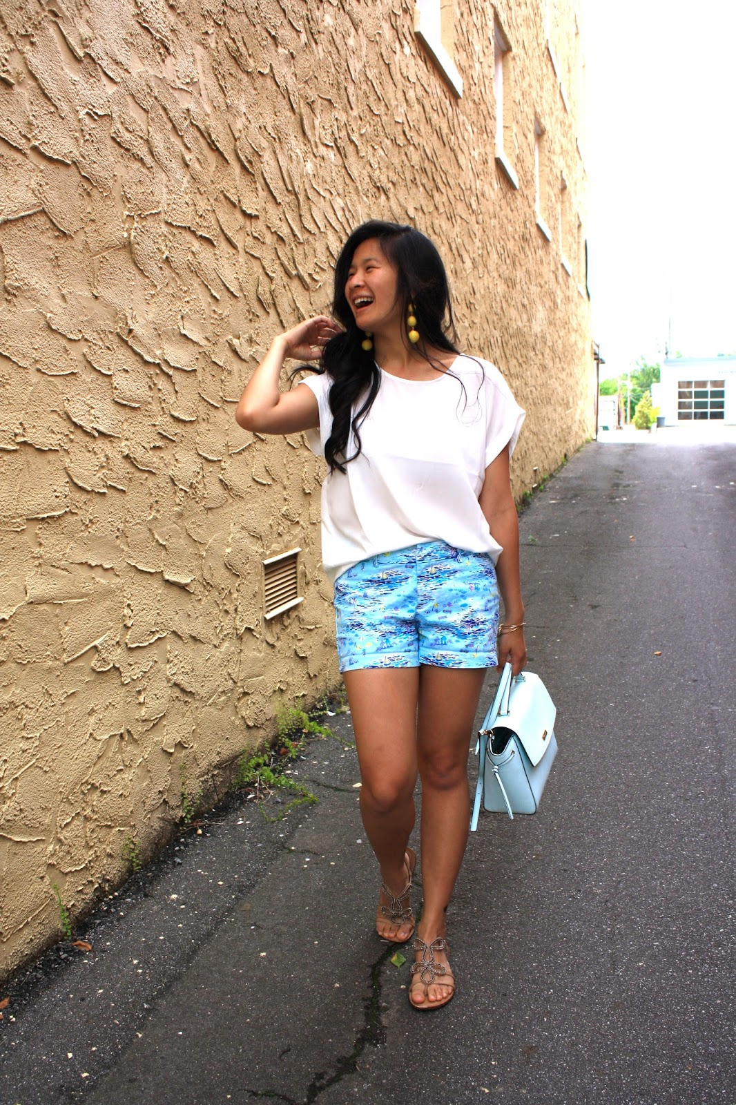 Styling printed shorts