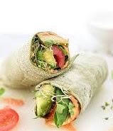 Whole wheat veggie wraps: