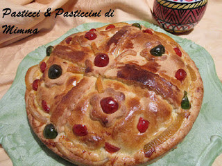 Fotografia della Cassata d'Aragona di Mimma Morana del blog Pasticci e Pasticcini