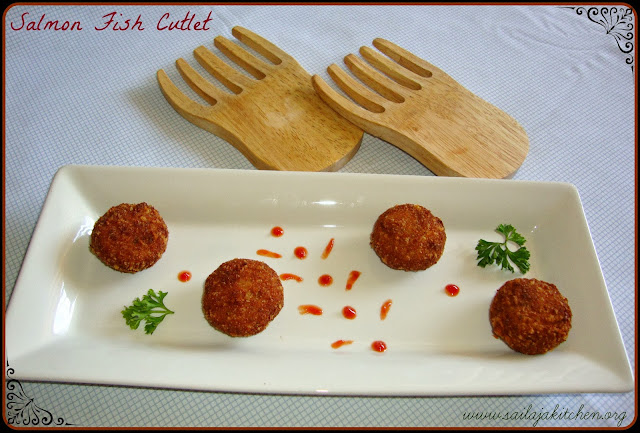 Salmon Fish Cutlet Recipe / Fish Cutlet Recipe / Fish Kabab (Kebab) Recipe / Indian Fish Cakes / Fried Fish Patties Recipe