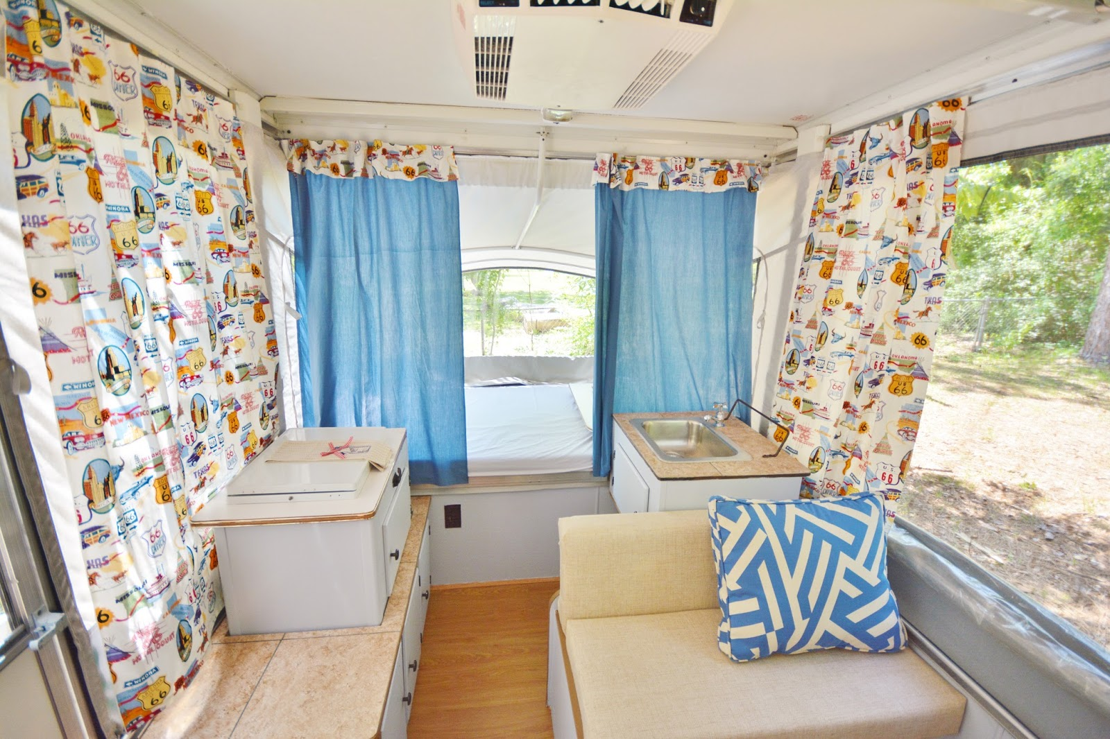 Trailer Curtains Life With 4 Boys Diy Pop Up Camper Remodel 70dayroadtrip
