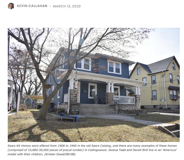 dark blue house • Testimonial Sears Americus built by Charles F. Kurtz
