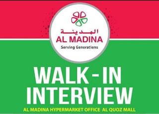 Al Madina Hypermarket Dubai, Recruitments For Senior Baker, Baker cum Confectioner, Bakery Helper, Confectioner, Sweet Master & Assistant Sweet Master | Apply Online