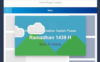 Cara Membuat Pop Up Ucapan Selamat Menunaikan Ibadah Puasa Ramadhan
