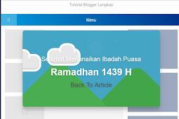 Cara Membuat Pop Up Ucapan Selamat Menunaikan Ibadah Puasa Ramadhan di Blogger