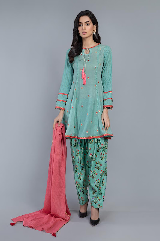 Maria B Sea Green suit summer collection