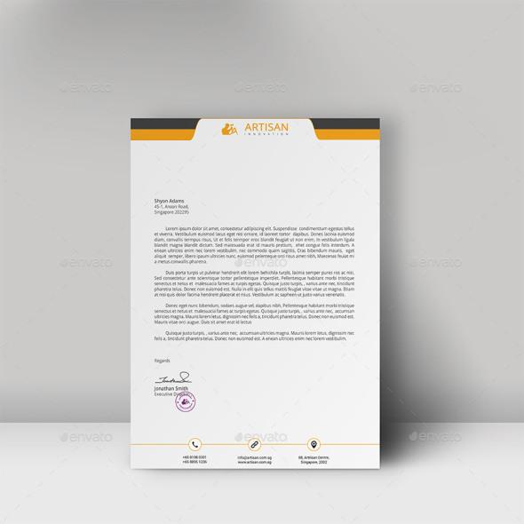 professional letterhead template 4