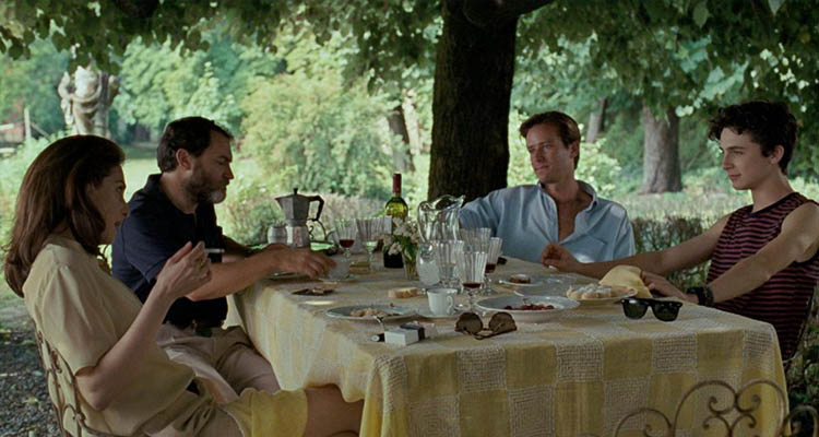 Armie Hammer en Call Me by Your Name