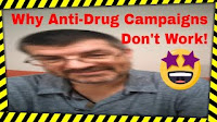 Why Anti-Drug Commercials and Anti-Drug Campaigns Don't Work: video thumbnail with image and text