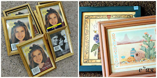 Spray Paint: DIY Matching Picture Frames