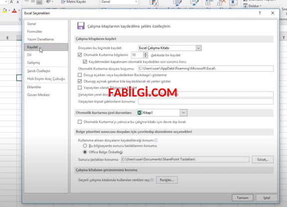 Word Excel Otomatik Kaydetme Özelliği Nasıl Açılır Yeni
